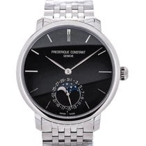 Frederique Constant Slim Line 42 Moon Phase Blue Steel