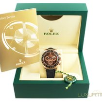 Rolex Mens Daytona 116515 LN Rose Gold Chocolate Dial Black Bezel