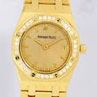 Audemars Piguet Royal Oak Lady 18K Gold Diamond Bezel Date Top...