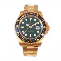 Rolex GMT Master II 'Green Dial' Y/Gold B&P 116718