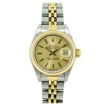 Rolex Lady Datejust 69173 26mm Champagne Baton Dial
