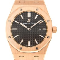 Audemars Piguet Royal Oak 18k Rose Gold Dark Grey Quartz...