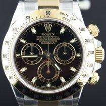 Rolex Daytona Chrono Gold/Steel Black Index Dial 40MM Full Set