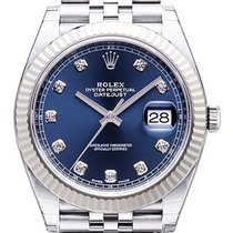 Rolex Datejust 41 Edelstahl Weißgold 126334 Blau Diamant Jubile