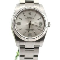 Rolex Oyster Perpetual no date silver dial 3-6-9 116034