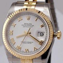 Rolex Datejust 36mm Jubilee SS/18K White Roman