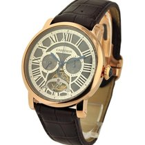 Cartier W1580032 Rotonde De Cartier Single Push-Piece Tourbill...