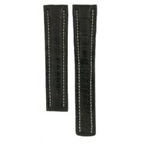 Breitling Black Crocodile Leather Strap For Deployment Buckles...