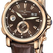 Ulysse Nardin GMT Big Date 42mm 18kt Rose Gold 246-55/95 COMPLETE