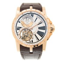 Roger Dubuis Excalibur 18k Rose Gold White Automatic RDDBEX0261