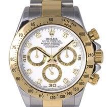 Rolex Daytona Steel & Gold with White Diamond Dial, 116523...