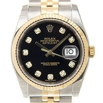 勞力士 (Rolex) Datejust 18k Gold Diamond Steel Black Automatic...