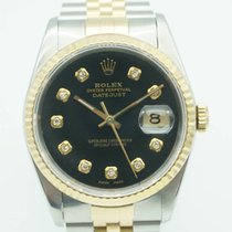 Rolex Datejust 36mm Two Tone Diamond Black Dial Jubilee band...