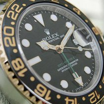Rolex Gmt-master Ii 116713 Mens Steel & Gold Black Dial...