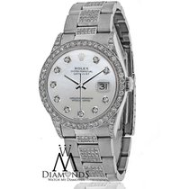 Rolex Watch- Datejust 16200 36mm - White Mother Of Pearl Dial...