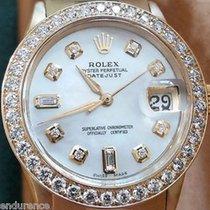 Rolex Datejust Gold Mother Of Pearl Diamonds Dial & Bezel...