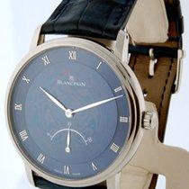 Blancpain Villeret Retrograde Mens Watch 18K White Gold...