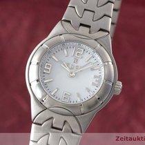 Ebel Lady Type E Edelstahl Damenuhr Date E9157c11 Stahlband