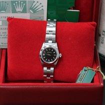 Rolex Ladies Oyster Perpetual 6718 Stainless Steel Black Dial...