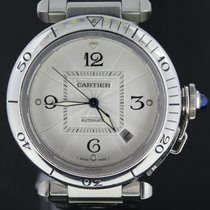 Cartier Pasha Grill Steel 38MM Automatic Full Set 2001 MINT