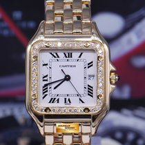 Cartier Panthere Midsize 18k Yellow Gold Diamond Quartz...