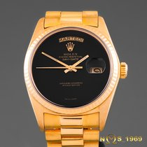 Rolex Day-Date President 18K Gold ONYX Box & Paper