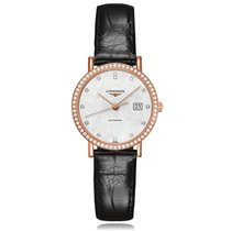 Longines Grandes Classiques Automatic Rose Gold White Dial...