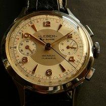 LEBEM EB. SUISSE vintage chronograph Valjoux 23, 1950s, Mint (1)