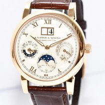 A. Lange & Söhne Langematik 18kt Gold Uhr 310.032 D Papiere