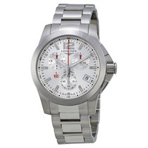 Longines Sport Conquest Silver Dial Stainless Steel Men's...