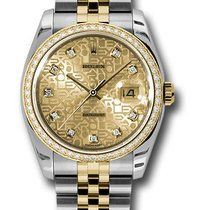 Rolex 116243 Datejust Stainless Steel & Yellow Gold Ladies...