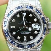 Rolex Gmt Master Ii 116710 5cts. Diamond Lugs Bezel 4 18k...