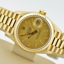 Rolex Datejust President 18k Yellow Gold Champagne Dial 69178...