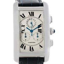 Cartier Tank Americaine American 18K Solid White Gold