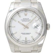 Rolex Oyster Datejust 36mm Ref. 116200 Weiß Index
