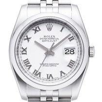 Rolex Oyster Datejust 36 mm 116200 Jubilé Weiss Römisch