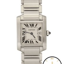 Cartier Tank Francaise Mid-Size Stainless Steel 2465 Watch