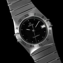 Omega Constellation 35mm Mens Bracelet Watch, Quartz, Date, Black