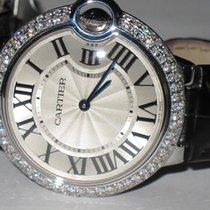 Cartier Ballon Bleu 36 MM Stainless Steel Diamonds