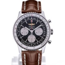 Breitling Navitimer 01 43 Brown Crocodile Leather Folding Clasp