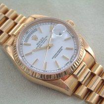 Rolex 18 Karat Day Date mit Stella Porzellanblatt TOP Zustand
