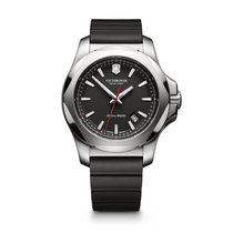 Victorinox Swiss Army I.N.O.X. black dial, rubber bracelet, date