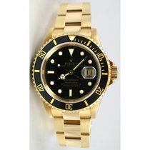 Rolex Submariner 16618 18K Yellow Gold Black Dial and Bezel...