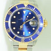 Rolex Oyster Submariner Gold Steel Bleu Dial 40 mm ,full set