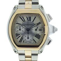 Cartier Roadster Chronograph Two Tone Stainless Steel 18k...