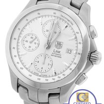 TAG Heuer Link Automatic Chronograph 42mm Silver Stainless...