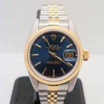 Rolex Datejust Lady 18k Gold Steel Blue Ocean Dial (Rolex Box)