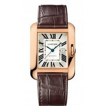 Cartier W5310005 Tank Anglaise Medium in Rose Gold - on Brown...