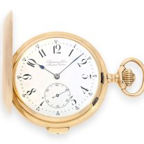 Pocket watch: large and heavy golden hunting case Audemars...