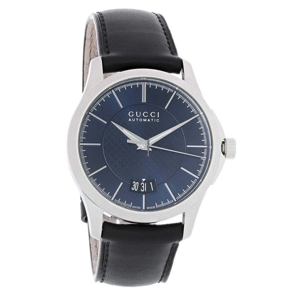 acbb81626e2 Gucci 126 G-Timeless Mens Black Leather Swiss Quartz Watch... for C  907  for sale from a Trusted Seller on Chrono24